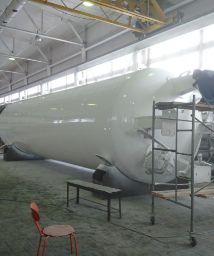 Производство криогенных стационарных резервуаров 50 м³ для жидких газов