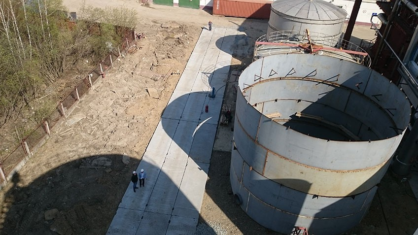 The foundation for 500 m3 cryogenic storage tank for