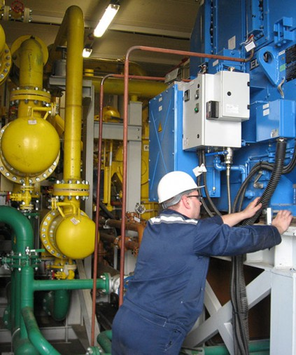 Cherepovets Power plant booster gas compressors technical maintenance