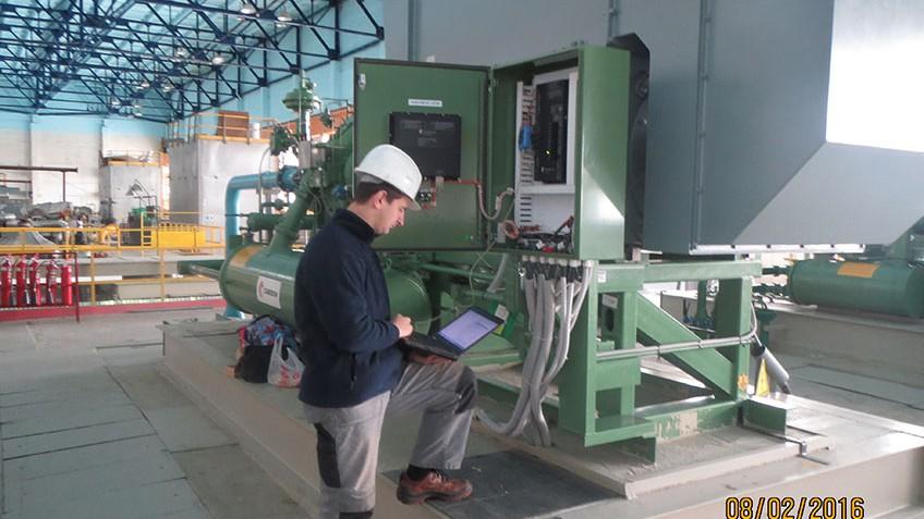 Baikonur space launch site compressor equipment maintenance