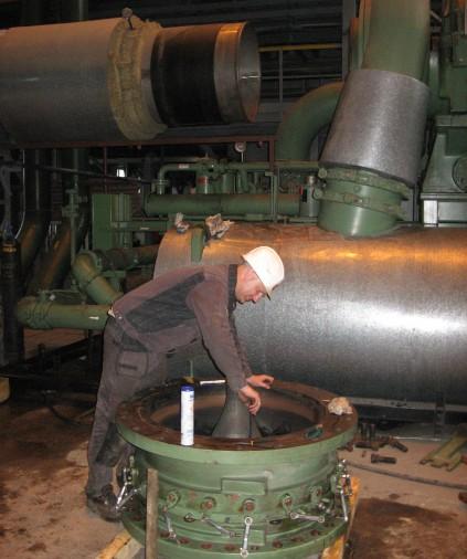 Обслуживание турбокомпрессора Cameron в составе ВРУ ТОО